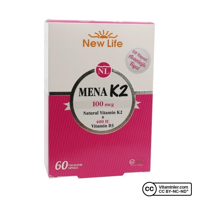New Life Mena K2 60 Kapsül