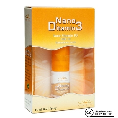 New Life Nano Ditamin3 500 IU D3 Sprey 15 Ml
