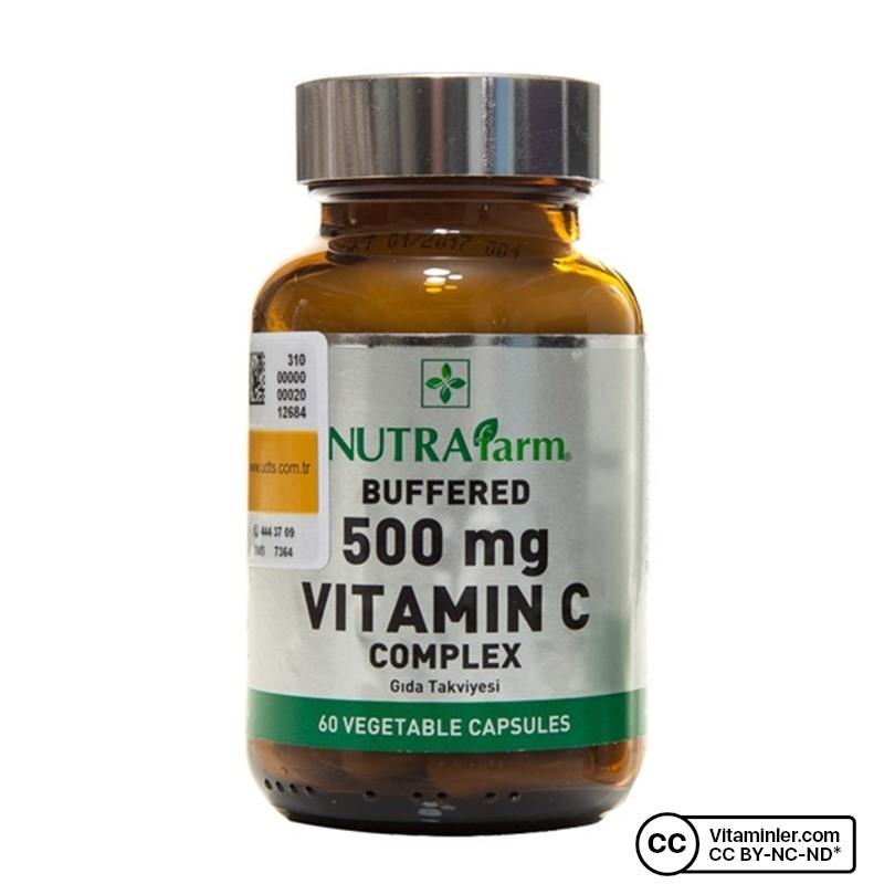 Nutrafarm Buffered 500 Mg Vitamin C Complex 60 Kapsül