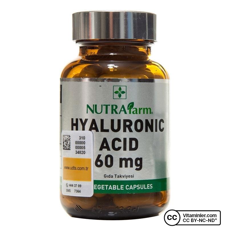 Nutrafarm Hyaluronic Acid 60 mg 60 Kapsül
