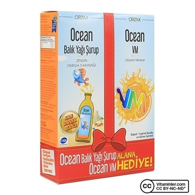 Ocean Balık Yağı Şurup 150 Ml + Ocean VM Şurup 150 Ml