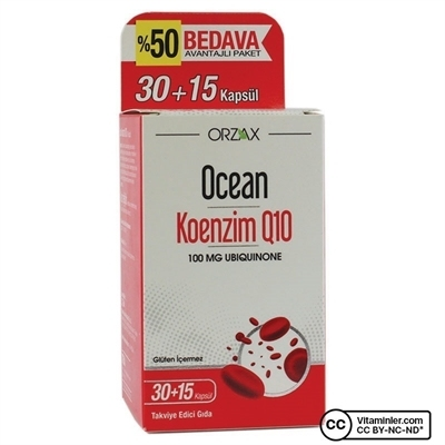 Ocean Koenzim Q10 100 Mg 45 Kapsül