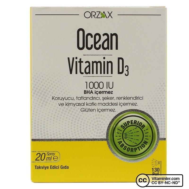 Ocean Vitamin D3 1000 IU 20 Ml