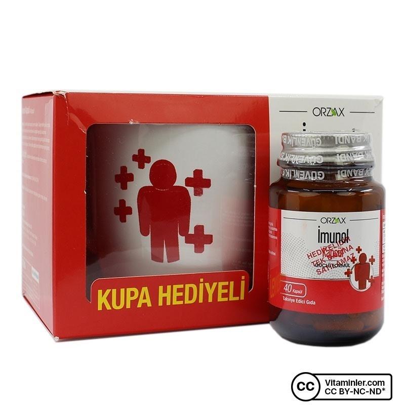 Orzax Imunol Beta Glukan 40 Kapsül + Kupa Hediyeli