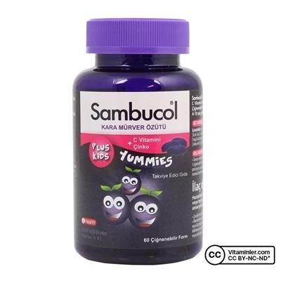 Sambucol Plus Kids Yummies 60 Çiğnenebilir Form
