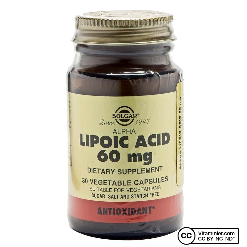 Solgar Alpha Lipoic Acid 60 mg 30 Kapsül
