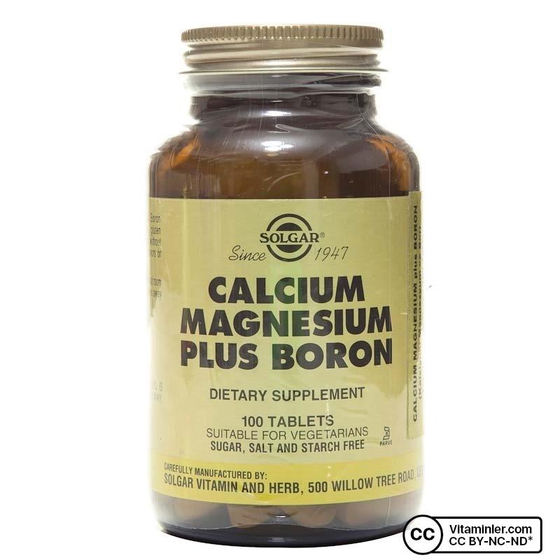 Solgar Calcium Magnesium Plus Boron 100 Tablet
