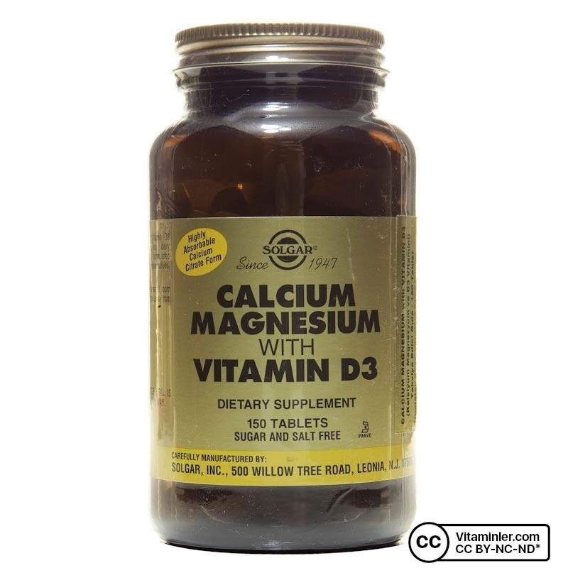 Solgar Calcium Magnesium with Vitamin D3 150 Tablet