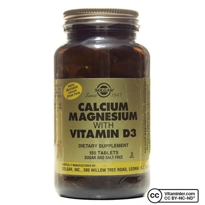 Solgar Calcium Magnesium with Vitamin D3 150 Tablet