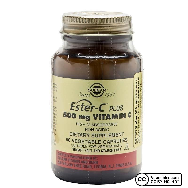 Solgar Ester-C Plus 500 mg 50 Kapsül
