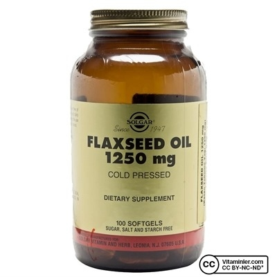 Solgar Flaxseed Oil 1250 mg 100 Softjel