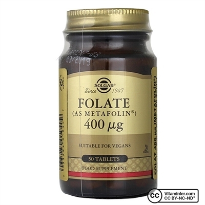 Solgar Folate (Metafolin®) 400 Mcg 50 Tablet