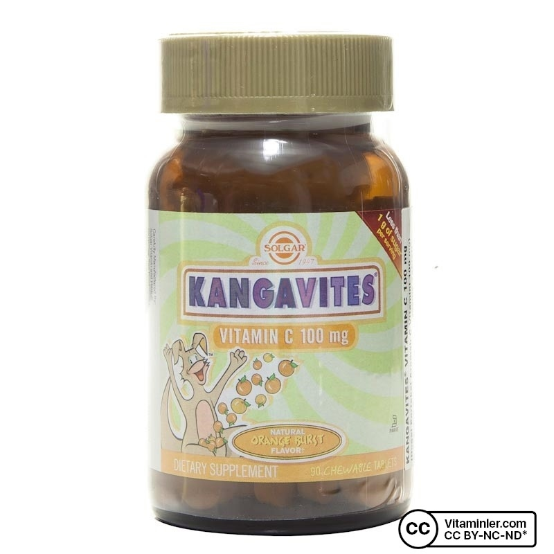 Solgar Kangavites Vitamin C 100 mg 90 Tablet