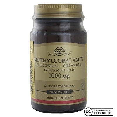 Solgar Methylcobalamin (B12) 1000 Mcg 30 Dilaltı Tableti
