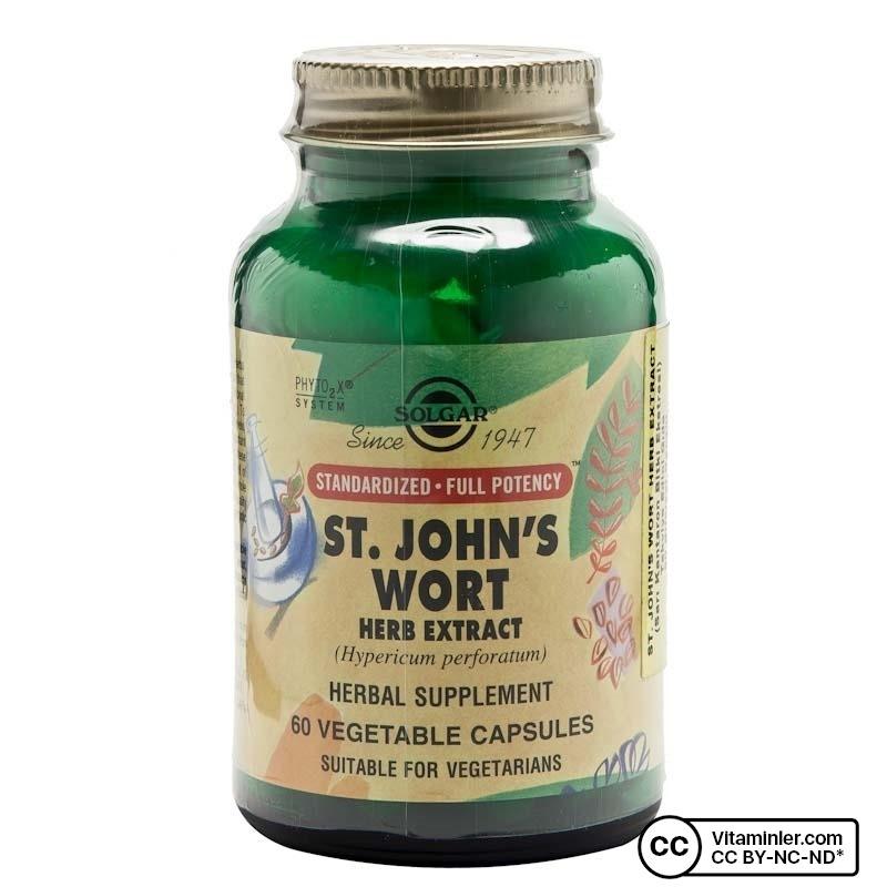 Solgar St. John's Wort Herb Extract 60 Kapsül