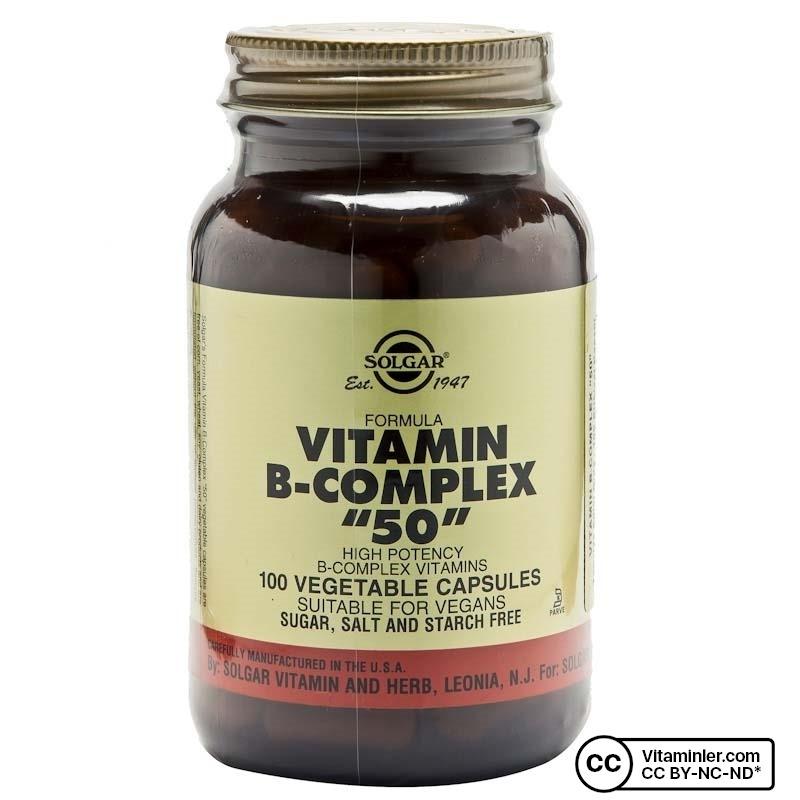 Solgar Vitamin B-Complex 50 100 Kapsül