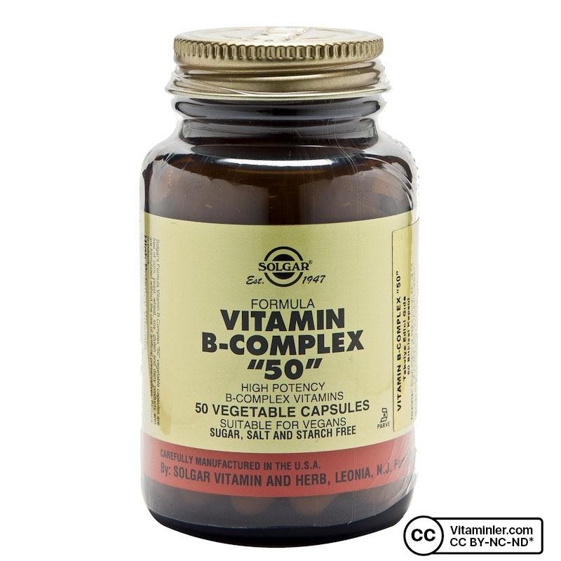 Solgar Vitamin B-Complex 50 50 Kapsül