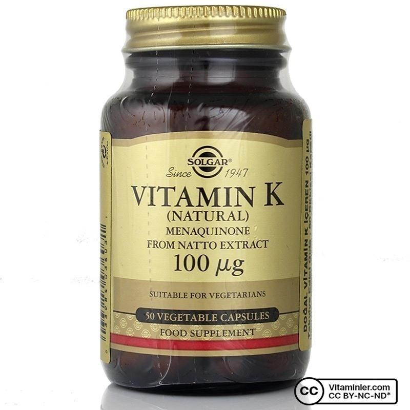 Solgar Vitamin K 100 mcg 50 Kapsül