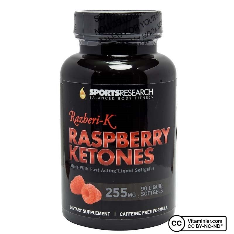 Sports Research Raspberry Ketones 255Mg 90 Sıvı Kapsül
