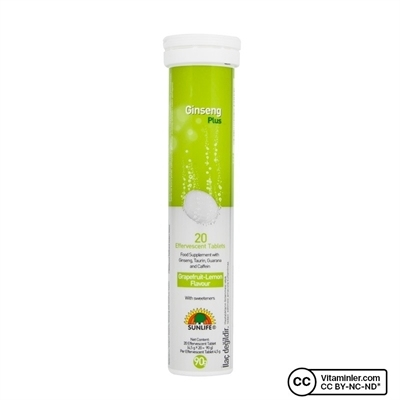 Sunlife Ginseng Plus 20 Efervesan Tablet