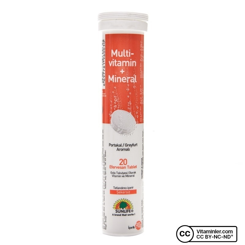 Sunlife Multivitamin Mineral Efervesan 20 Tablet