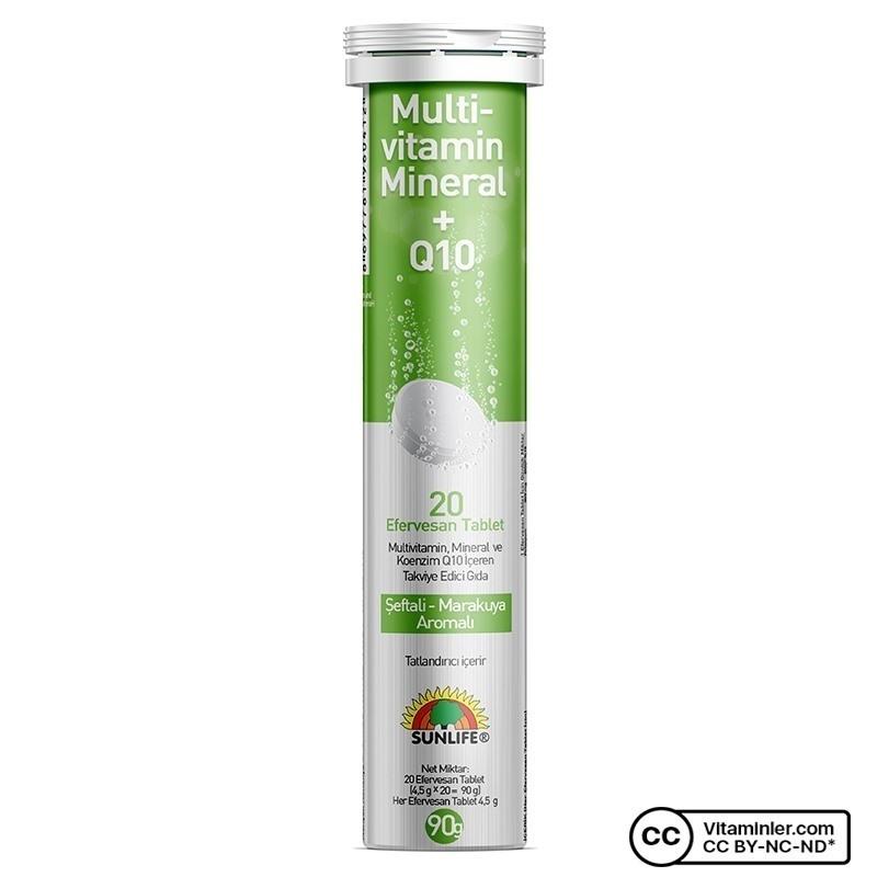 Sunlife Multivitamin & Mineral + Q10 Efervesan 20 Tablet