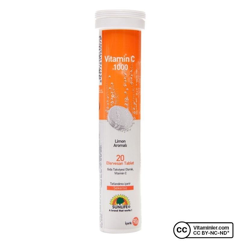 Sunlife Vitamin C 1000 Mg 20 Tablet