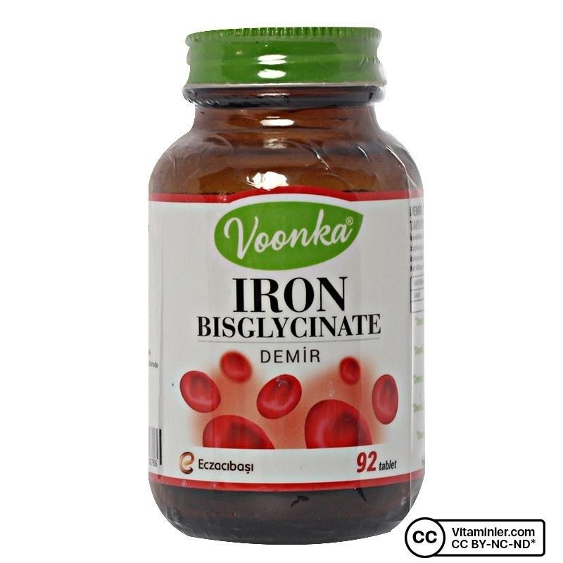Voonka Iron Bisglycinate (Demir) 92 Tablet