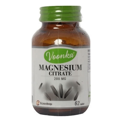 Voonka Magnesium Citrate 200 Mg 62 Tablet