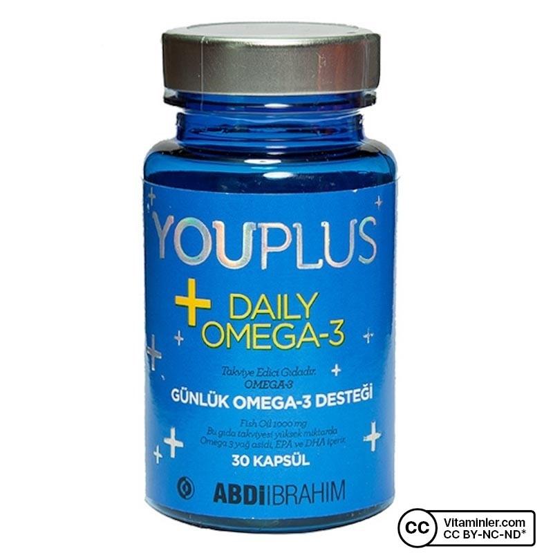 YouPlus Daily Omega-3 30 Kapsül