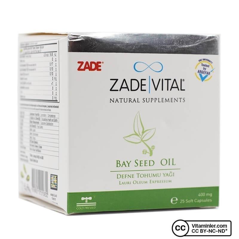 Zade Vital Defne Tohumu Yağı 400 Mg 25 Patlatılabilen Kapsül