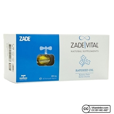 Zade Vital Kanola Yağı 800 mg 60 Kapsül