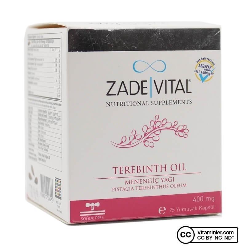 Zade Vital Menengiç Yağı 400 Mg 25 Patlatılabilen Kapsül