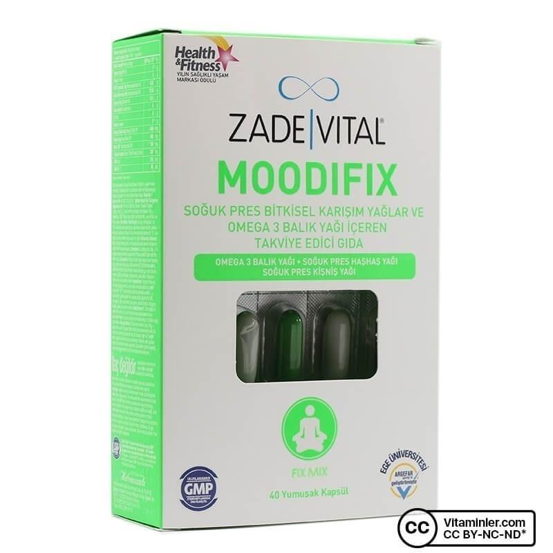Zade Vital Moodifix 1000 Mg 40 Kapsül