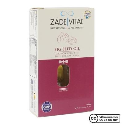 Zade Vital İncir Çekirdeği Yağı 400 mg 30 Kapsül