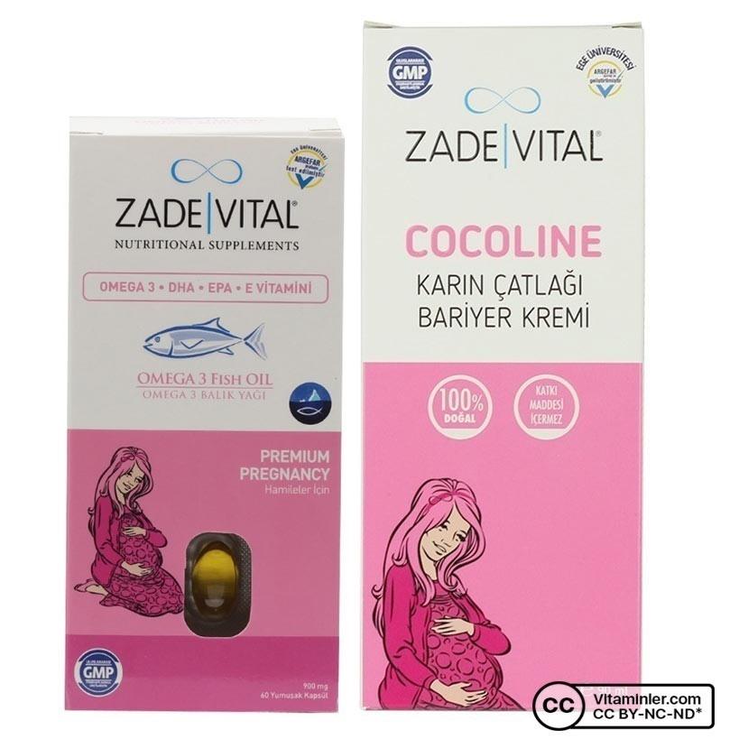 Zade Vital Omega 3 900 mg Hamileler için + Çatlak Kremi Seti