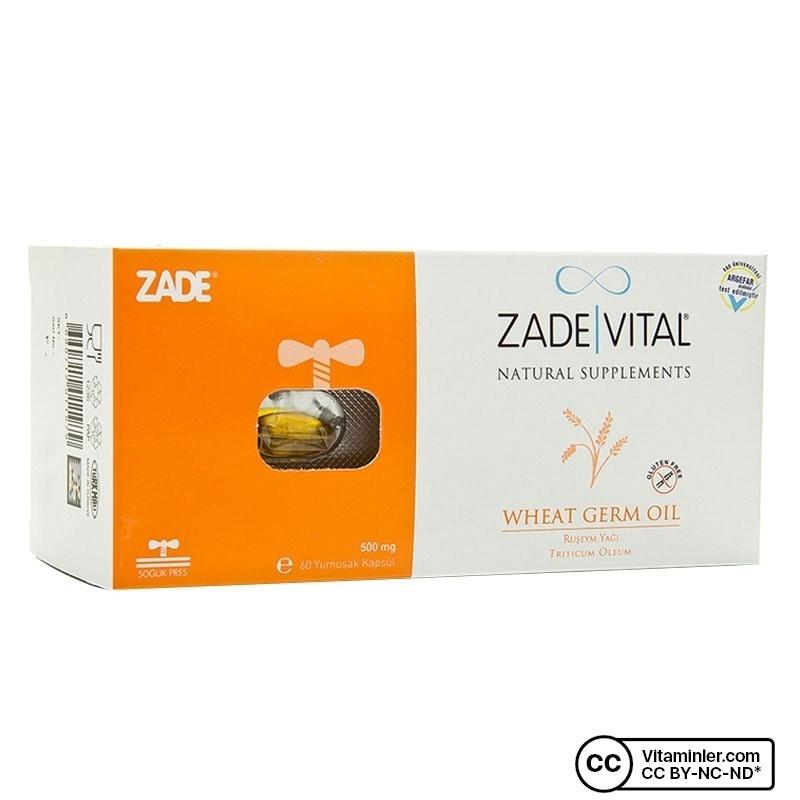 Zade Vital Ruşeym Yağı 500 mg 60 Kapsül