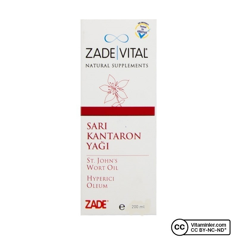 Zade Vital Sarı Kantaron Yağı 200 Ml Vitaminler