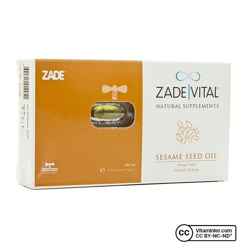 Zade Vital Susam Yağı 400 mg 60 Kapsül