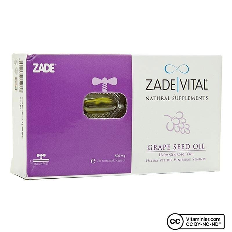 Zade Vital Üzüm Çekirdeği Yağı 500 mg 60 Kapsül