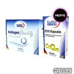 Eurho Vital Kollagen Beauty 30 Flakon + Q10 Kapseln 100 Mg 30 Kapsül Hediyeli