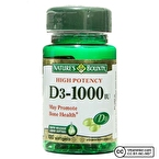 Nature's Bounty Vitamin D3 1000 IU 100 Kapsül