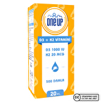 One Up D3 + K2 Vitamini 20 mL Damla
