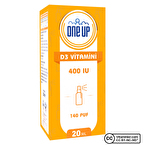 One Up D3 Vitamini 400 IU 20 mL Sprey & Damla