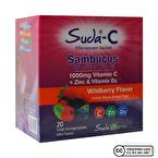 Suda Vitamin C Sambucus Çinko ve D3 Vitamini 20 Saşe