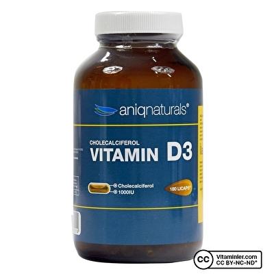 Aniqnaturals Vitamin D3 180 Kapsül