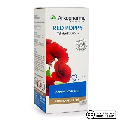 Arkopharma Red Poppy Gelincik Ekstresi 291 Mg 90 Kapsül