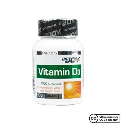 Bigjoy Vitamins Vitamin D3 1000 IU 100 Tablet