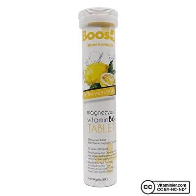 Boos+ Magnezyum Vitamin B6 20 Efervesan Tablet