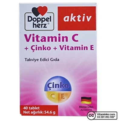 Doppelherz Aktiv Vitamin C + Çinko + Vitamin E 40 Tablet